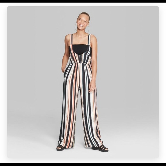 c764885609d NWT Striped woven jumpsuit XXL